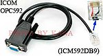 5X ICM592DB9 RS232 Programming Cable for Icom IC-F220 IC-F320 F420 OPC-592