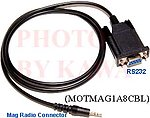 5x MOTMAG1A8CBL Radio Programming Cable for Motorola MAG ONE A8 BPR40
