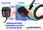 1X ICMSPKF6IP67 Public Safety Waterproof Speaker Mic for ICOM HM138 IC-F50 IC-F60