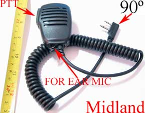 1X MDRESP90D Mini Speaker with F plug for Midland AVP1 radio